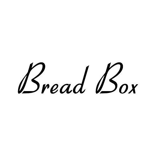 Bread Box 8.5w x 2h Label - Kitchen Organization - Die Cut Vinyl Decal - Black Retro Font (Sticker Only)