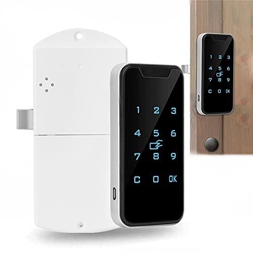 Cerradura electrónica del gabinete, Cerradura inteligente Contraseña RFID de Digitaces con Teclado táctil, Cerradura electrónica para hogar Gabinete Fichero Guardarropa
