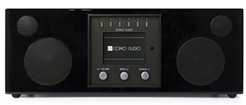 Como Audio: Duetto Kabelloses Musiksystem mit Internet-Radio, Spotify Connect, WLAN, FM und Bluetooth, Piano Black