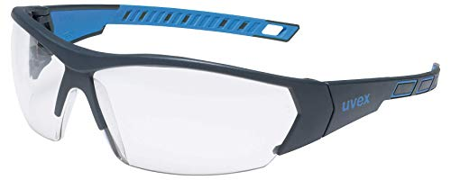 Gafas de Seguridad uvex i-Works - EN 166 170 - Antivaho y Resistente a arañazos y químicos - Transparente/Azul 🔥