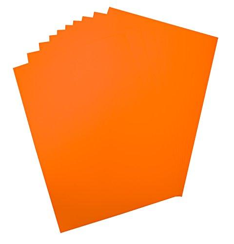 Folia 65915 Plakkarton, ca. 48 x 68 cm, 10 vellen, 380 g/m², eenzijdig lichtoranje gekleurd - ideaal voor het knutselen of maken van posters en displays