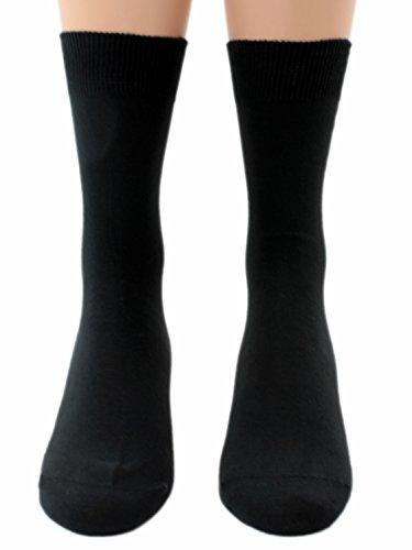 Unbekannt Docteur Chaussettes Noir 100% Coton Paquet de Cinq Cartes - Noir, 39/42