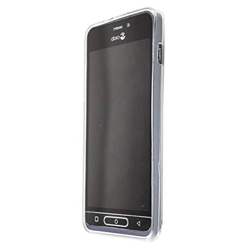 caseroxx TPU-Hülle für Doro 8035, Hülle mit & ohne Bildschirmschutzfolie (TPU-Hülle mit Bildschirmschutzfolie, transparent)