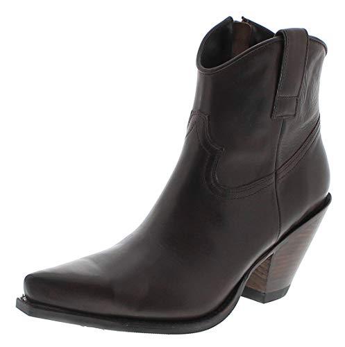 Sendra Boots Damen Stiefelette 15521 Marron Lederstiefel Westernstiefelette Braun 42 EU