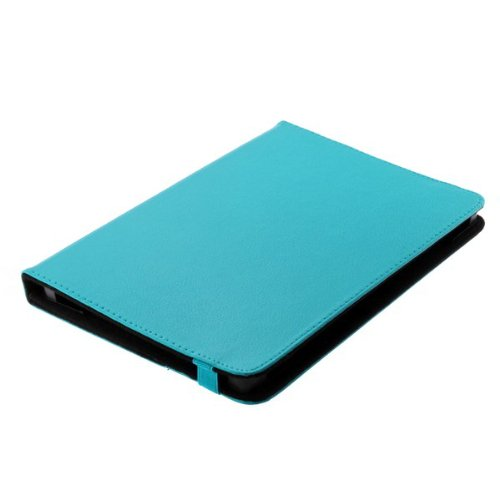 Bookstyle Tablet PC Tasche Etui Hülle Book Hülle hellblau mit Standfunktion geeignet für Xoro Pad 900