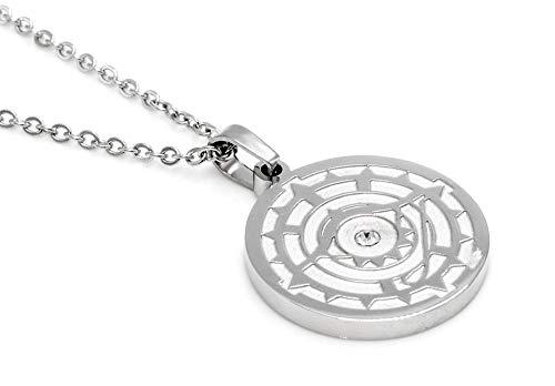 DAS Auge GOTTES Magnet Kettenanhänger EIN KRAFTVOLLES Symbol mit Swarovski Eiskristall Energetix 4you 5666 handveredelte Unikate inkl. Kette