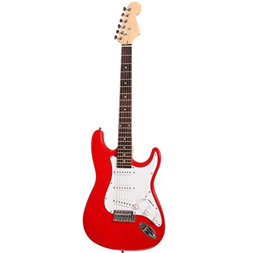 KEPOHK Concierto de guitarra eléctrica de 38 pulgadas, guitarra de mano izquierda, diapasón de palisandro, bajo, principiante, regalo de práctica AGT209