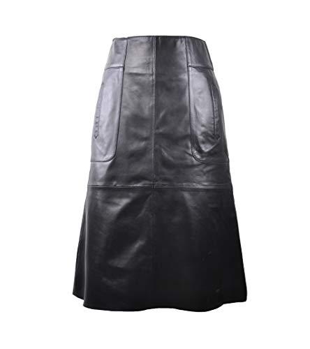 Zerimar Falda Ante   Falda de Cuero   Falda Mujer Casual   Faldas Piel Mujer   Falda Larga Mujer   Faldas Piel de Ante Mujer   Falda Cuero Larga