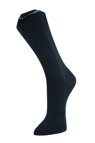 Lindner socks Business Strumpf mit Seide, 39-42, Marine