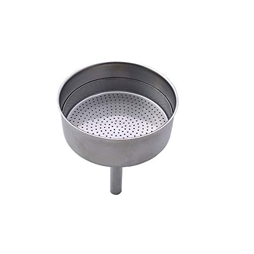 Début - Replacement Funnel and redcuer for 6 Cup stovetop Espresso Coffee Makers (STELLA)