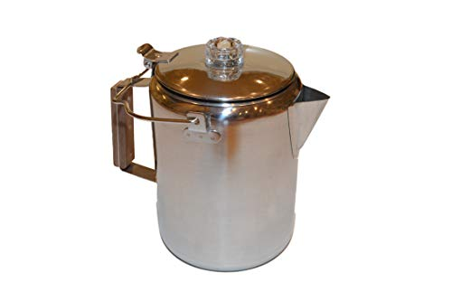 Oregon Trail - 12 Cup Stainless Percolator - Camping Coffee Pot