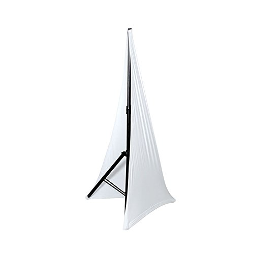 Pyle PSCRIMW2 DJ Speaker / Light Stand Scrim, Universal Compatibility & Mountable, for Tripod Stands, 2 Sided (White)