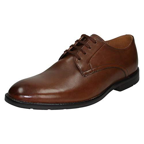 Clarks Ronnie Walk, Zapatos de Cordones Derby Hombre, Marrón (British Tan Lea British Tan Lea), 42 EU