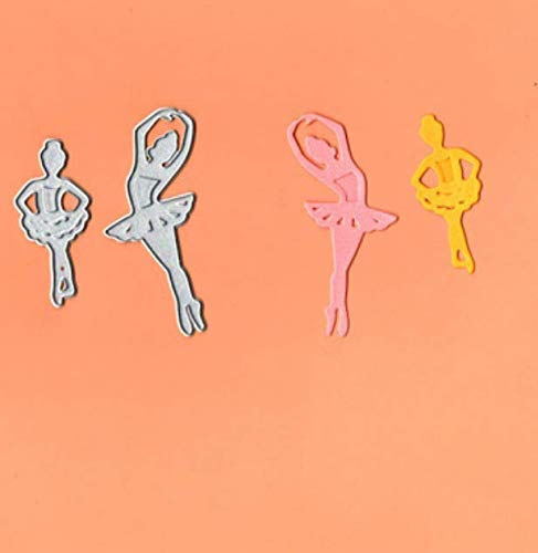 RKZM Balletje, met reliëf snijden sjabloon puzzel DIY handgemaakt koolstofstaal mes vorm 5,5 x 2,5 cm 3,2 x 7,4 cm