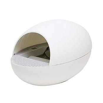 ZCY Automatique Bac À Litière pour Chat Autonettoyant Toilette pour Chat Électrique Nettoyeur Déodorant Faible Bruit Trash Pet Provisions (Color : White)