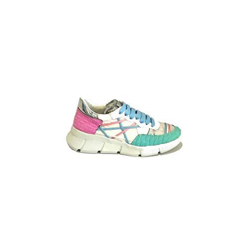 L4K3 B05 - MR BIG PRIMORDIAL Sneakers donna tessuto con linguetta paillettes (40 - TIFFANY-PINK)