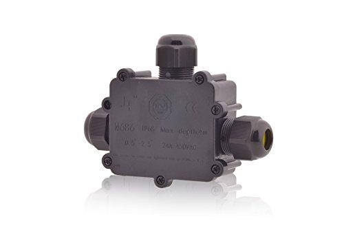 Verteilerdose Wasserdicht   IP68   24A 450V AC   3 Öffnungen   Kabelquerschnitte: M25 4-14mm   5-polig Dosenmuffe Kabelverbinder Erdkabel, Installationsgehäuse Wege Verbindungsbox Verbindungsmuffe