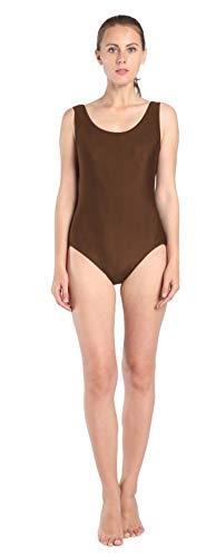 SK Studio Mujer y Niña Mono de Traje de Gimnasia de Escenario de Lycra Traje de Disfraz de Halloween marrón M