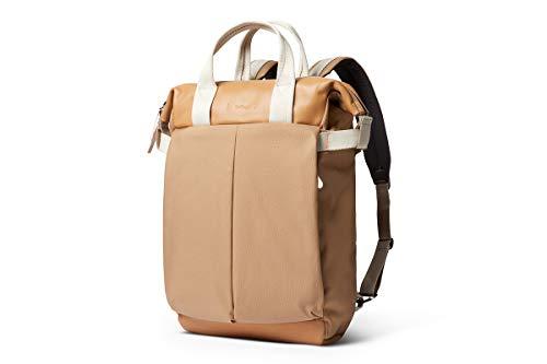 """Bellroy Tokyo Totepack Premium (zaino in pelle e borsa tote, notebook da 13"""", tablet, appunti, cavi, borraccia, vestiti di ricambio, oggetti essenziali quotidiani) - Desert"""