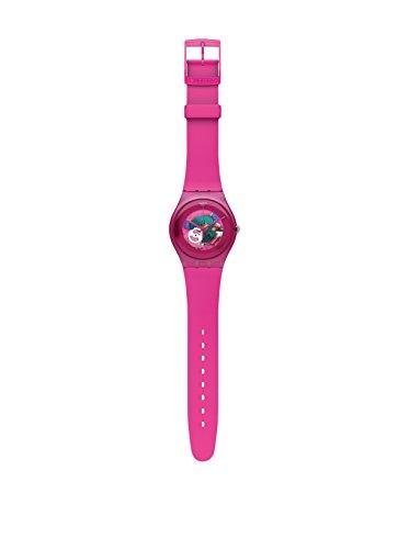Swatch SUOP100 - Reloj analógico de Cuarzo para niña, Correa de plástico Color Rosa