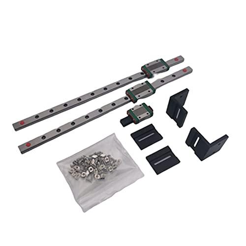 XINYE Wuxinye MGN12 Kit de actualización de guía lineal Prusa I3 MK3 Mk3s Y Axis Lineal Carril deslizante (color: kit de aluminio, tamaño: carril lineal Hiwin)