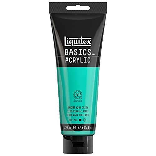 Liquitex BASICS Acrylic Paint, 8.45-oz tube, Bright Aqua Green, 8 Fl
