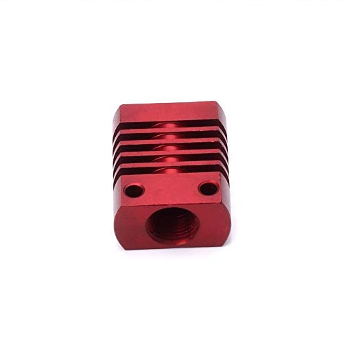 XIAOMINDIAN 2pcs 3D Printer Part MK10 V6 Heat Sink Radiator Fit 22mm Cooling Fan Red Aluminum Fins With Size 27x22x12mm Hot For CR8/CR10 Printer Parts