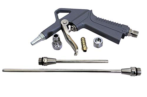 Jon Bhandari Tools Metal Air Dust Blow Gun (Grey and Silver) -Set of 5 Pieces