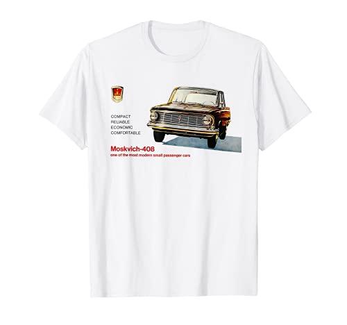 Drive Moskvich Car Auto Cartel de propaganda soviético Camiseta