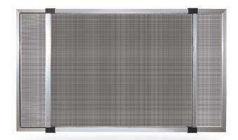 Mosquitera extensible con marco de aluminio y cepillo - Producto para instalación en ventanas y puertas - Textura de fibra de vidrio (50 x 70 cm)