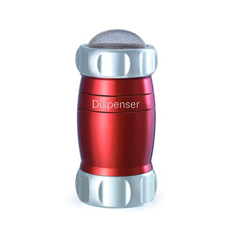 Marcato Design Atlas Flour Duster Dispenser Shaker, Made In Italy, Red, 5 x 2.5-Inches