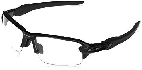 Oakley Men's OO9271 Flak 2.0 Asian Fit Rectangular Sunglasses, Polished Black/Clear, 61 mm