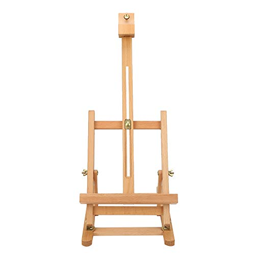 DERCLIVE Caballete de Madera Altura Ajustable 54 cm Mesa de Estudio de Madera Caballete portátil para exhibición de Artistas Herramienta de Pintura