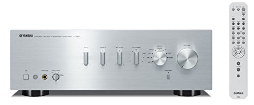 Yamaha AS-501 - Amplificador integrado estéreo de 120 W por canal, plata