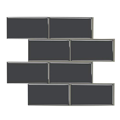 ZXF Pegatinas de baldosas, 10 Comprimidos Entrepaños de Cocina despegar y Pegar Auto-Adhesivo de Vinilo Etiqueta de la Pared Decoración 3D Mosaico de la Pared Pegatinas