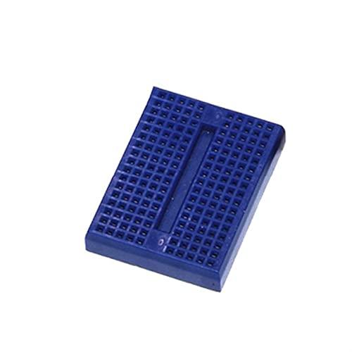 Temhyu Shuxiang-Placa PCB Syb-170 Mini Prototipo sin Soldadura, Prueba de Experimento Breadboard, 170 Puntos de Corbata 35x47x8.5mm para Proyecto electrónico (Color : Blue)