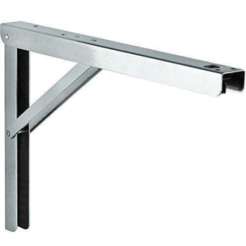 Schwerlast-Konsole Klappkonsole Edelstahl V4A rostfrei & säurebeständig Tisch - Sitzbank-Konsole klappbar PROFI LINE | 300 x 30 x 200 mm | Tragkraft 180 kg | 1 Stück - Klappwinkel für Wand-Montage
