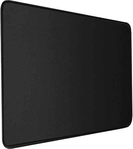 Mouse Pad, Gaming Mouse Mat 11.8x9.9x0.12 in with Durable Stitched Edge, Premium-Textured Water Resist Mousepad, Non-Slip Rubber Base Mouse Pads for Computers, Laptop, Gaming, Home, Office, Black