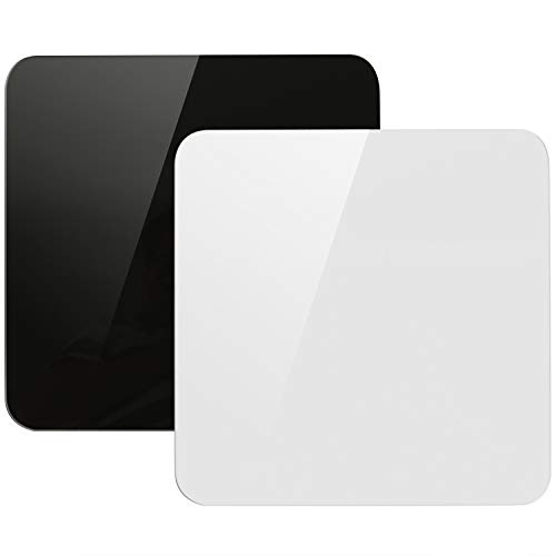 Acrylic White & Black Reflective Display Table Riser for Professional Product Photography, KINJOEK 12 x 12 Inch, 30 x 30 cm Background Boards for Product Table Top Photography Shooting