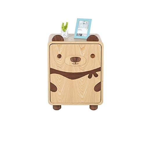 Read About XF Nightstands Bedside Table Cartoon Bear Children's Room Solid Wood Bedside Table Kids Bedroom Bedside Cabinet Boy Girl Small Cabinet Bedroom Furniture
