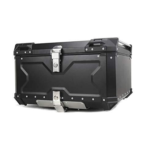 Caja De Casco De Moto Caja de Equipaje Superior Trasera para Motocicleta Caja de Casco Maletero de Almacenamiento Trasero Caja de Herramientas con Cerradura de Llave de Aluminio (Color : 65L)