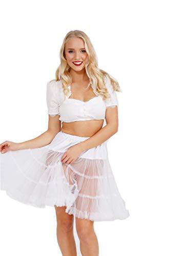 Krüger Dirndl Petticoat weiß 50 cm