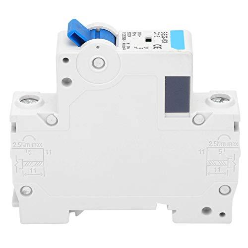 YIUS Disyuntor de 230 V Instalación en riel DIN Manejo Operación Interruptor de aire en miniatura Protección SEG-63(C16)