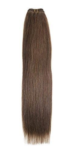 Euro soyeux tissage | Extensions de cheveux humains | 45,7 cm | Pâtisserie pour fille Marron (8) American Pride