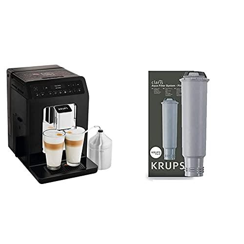 Krups Evidence Espresso EA8918 Cafetera Superautomática 15 Bares, 15 Preajustes + F08801 Filtro de Agua para cafeteras Claris, con iones y carbón activado de plata