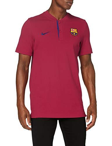 Nike Herren Sportswear FC Barcelona Poloshirt, Noble Red/Deep Royal Blue, L