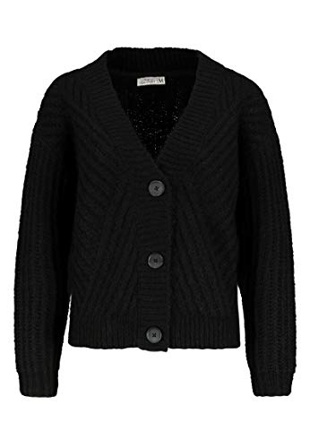 Urban Surface Damen Grobstrick-Cardigan mit Knöpfen Black L