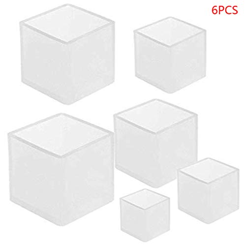 ZChun 6 stuks kubus siliconen kaarsvorm, zeep gips toon DIY sieraden epoxy
