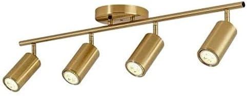 Ksovv New mail order Track Lighting Brushed Brass Ceiling Lights Lamp Fresno Mall 4 T Fixed