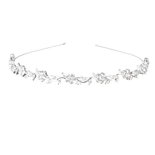 Blumen und Blätter Form Haarreif Stirnband Haarband für Hochzeit Verlobung